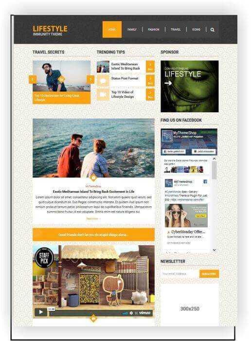 WordPress Lifestyle Magazine Topic