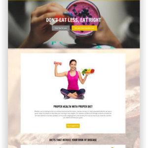 WordPress Ernährungs Thema
