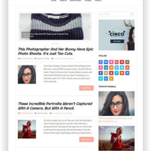 Fashion Blog Theme WordPress