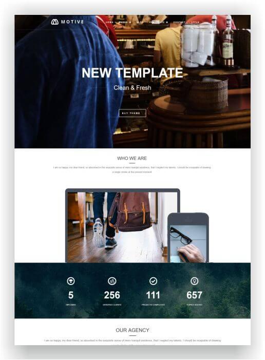 WordPress modern Blog Theme