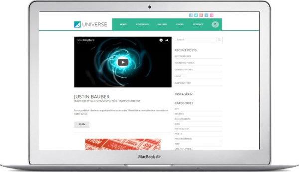 WordPress Portfolio Blog Thema