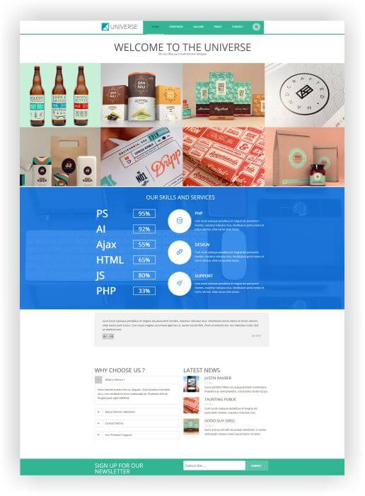WordPress Portfolio Blog Theme Universe