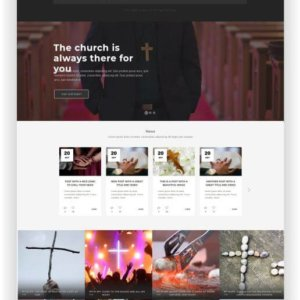 WordPress modern Church Theme Credo