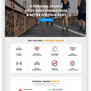 Webseite für Personal Trainer
