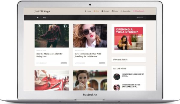 WordPress Yoga Theme