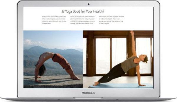 WordPress Yoga Website Bhanti