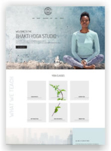 WordPress Yoga Website Bhanti