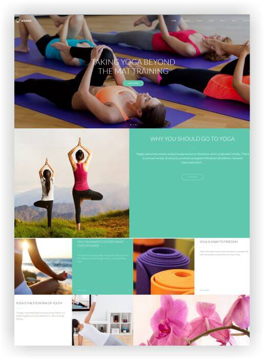 WordPress Sport and Yoga Theme