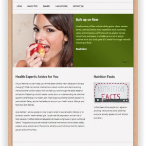 WordPress Nutrition Topic