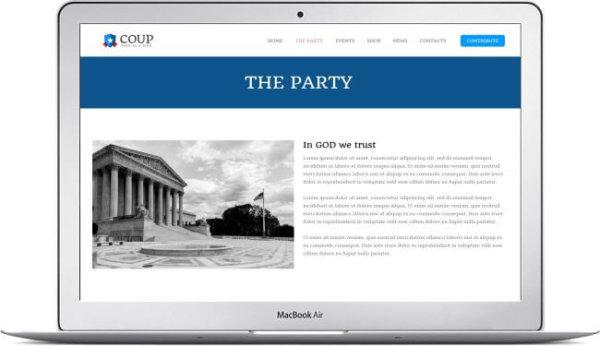 WordPress political Thema