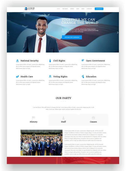 WordPress political Theme