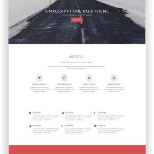 WordPress Onepage Theme
