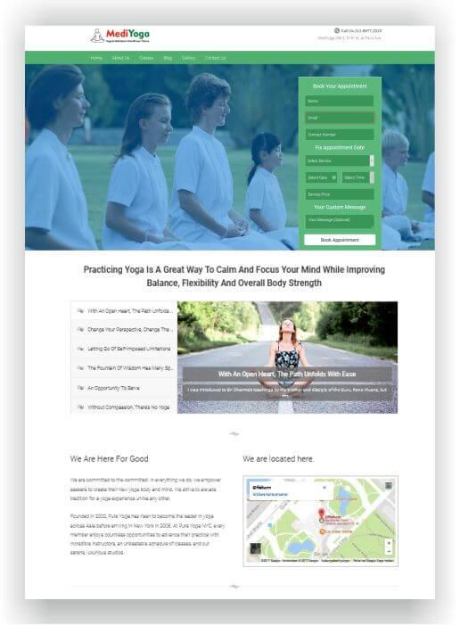 Yoga Teacher WordPress Theme