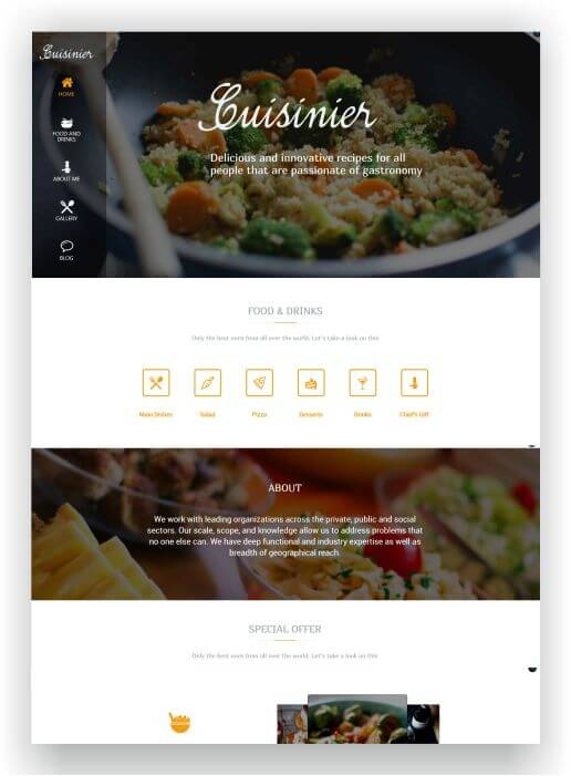 WordPress Recipeblog Theme