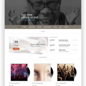 WordPress Music Theme Superstar