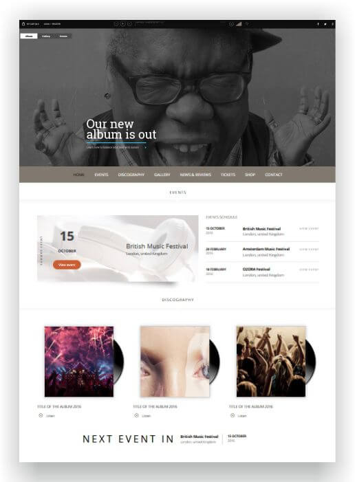 WordPress Music Theme Superstar