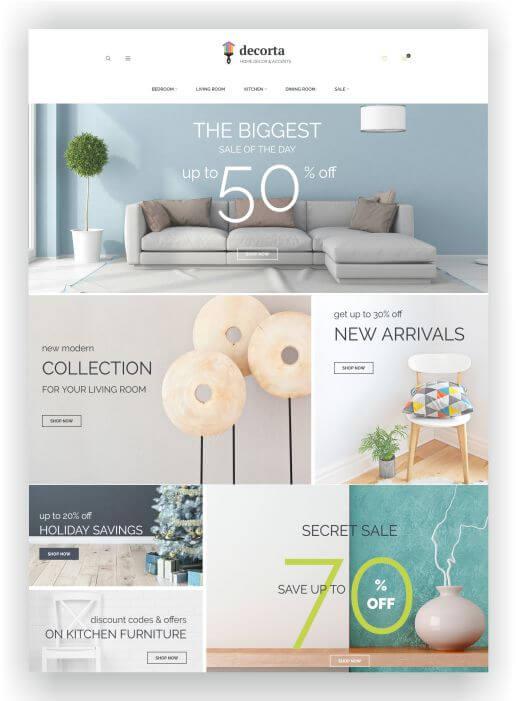 Magento Home Decor Shop Template