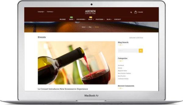 Magento Wine Shop Theme