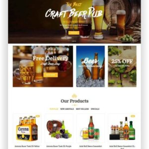Magento Beer Shop Theme