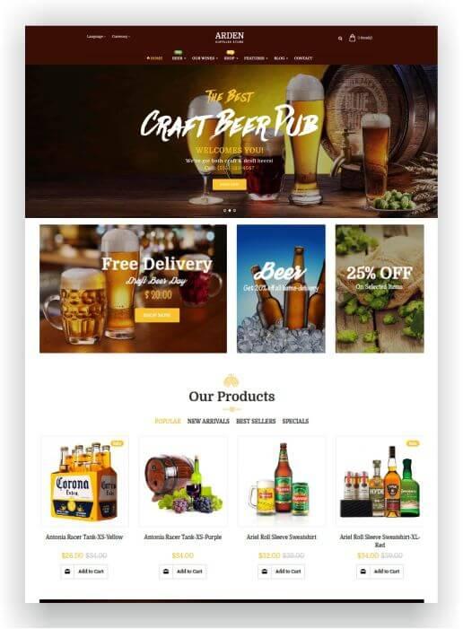 Magento Beer Shop Theme