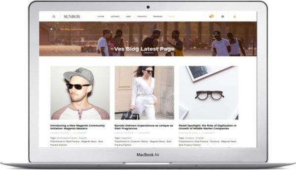 Sonnenbrillen Onlinestore Thema