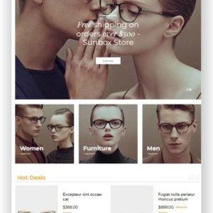 Sunglasses Onlinestore Theme