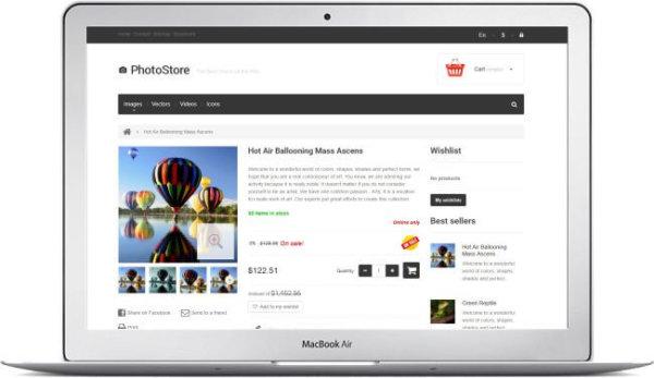 PrestaShop Photostore Theme