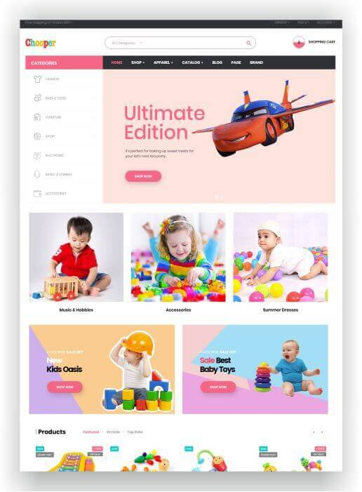 Baby Store Theme PrestaShop