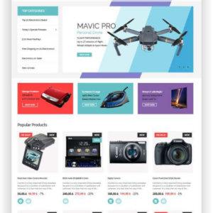 PrestaShop Electronic Store Template