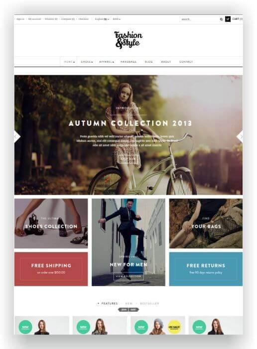 PrestaShop Fashion and Style Theme