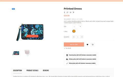 PrestaShop Handbag Store Theme