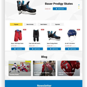 PrestaShop Hockey Store Theme