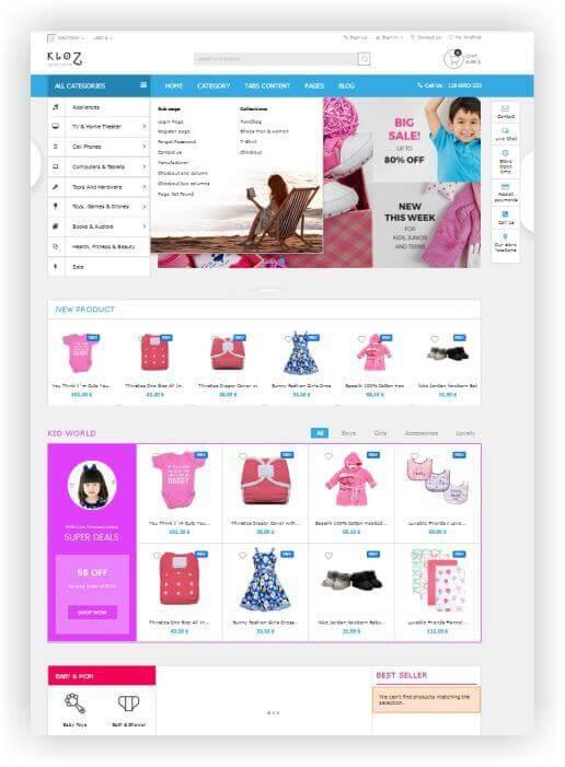 PrestaShop Fashion Multipurpose Theme