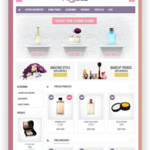 PrestaShop Cosmetic Store Template