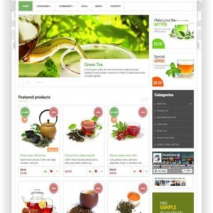PrestaShop Tea Shop Theme
