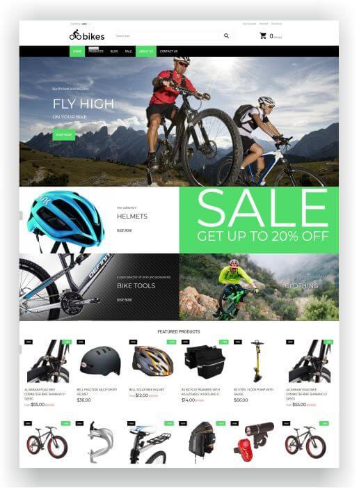 Shopify Bike Shop Theme