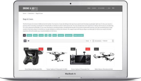 Shopify Drone Shop Template