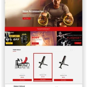Shopify Gym Shop Theme