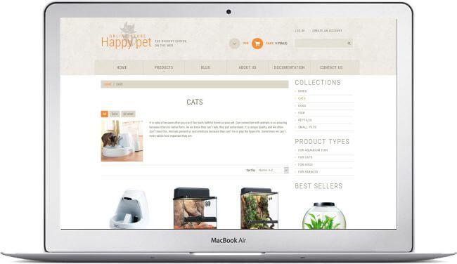 Shopify Happy Pet Shop Theme