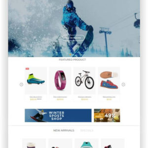 Shopify Wintersport Shop Theme
