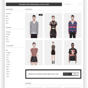 WooCommerce Theme for simple Fashion Store
