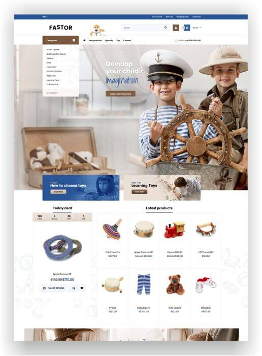 Shopify Multipurpose Theme with 70+ pre-made Designs!