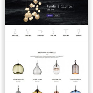WooCommerce Lighting Store Theme