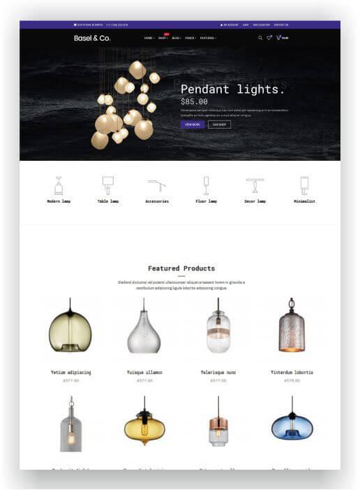 WooCommerce Lighting Store Theme