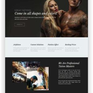 Tattoo Salon Website Theme