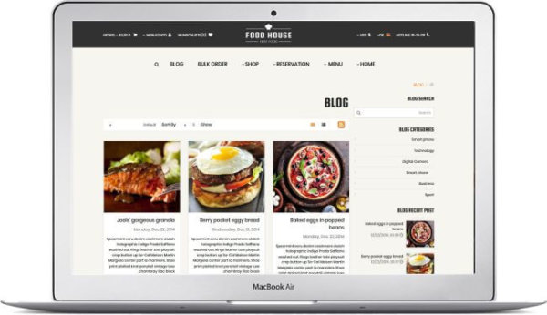 OpenCart Restaurant Theme