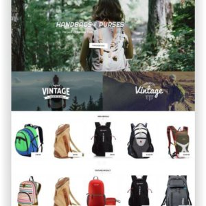 Backpack Store Theme