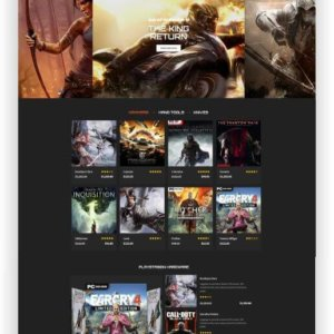 OpenCart Gamestore Theme