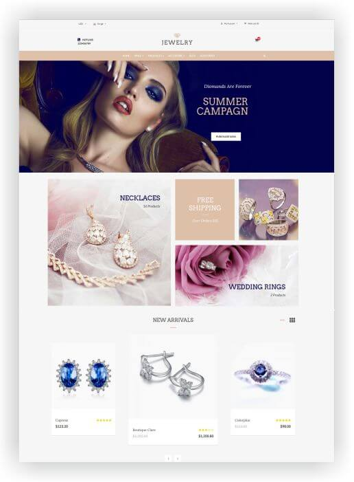 OpenCart Jewellery Store Theme