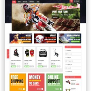 OpenCart Sport Shop Thema